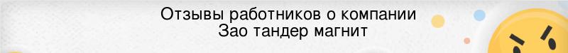 Отзывы сотрудников компании ЗАО Тандер Магнит